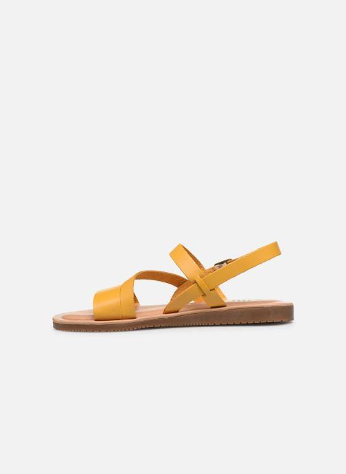Sandalen TBS BEATTYS gelb ansicht von vorne