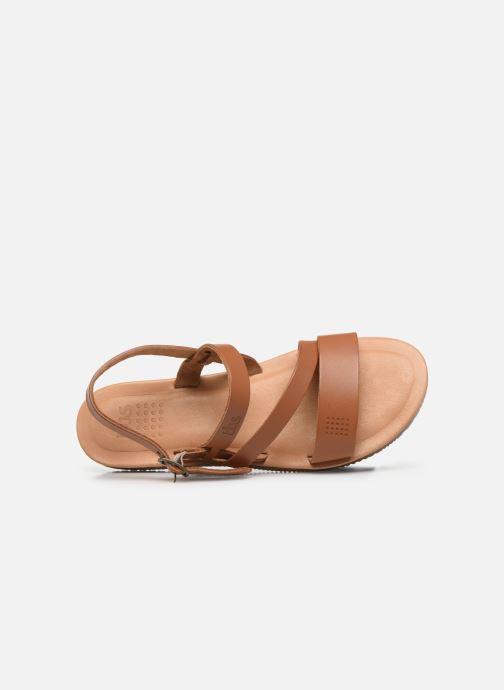 Sandales et nu-pieds TBS BEATTYS Marron vue gauche