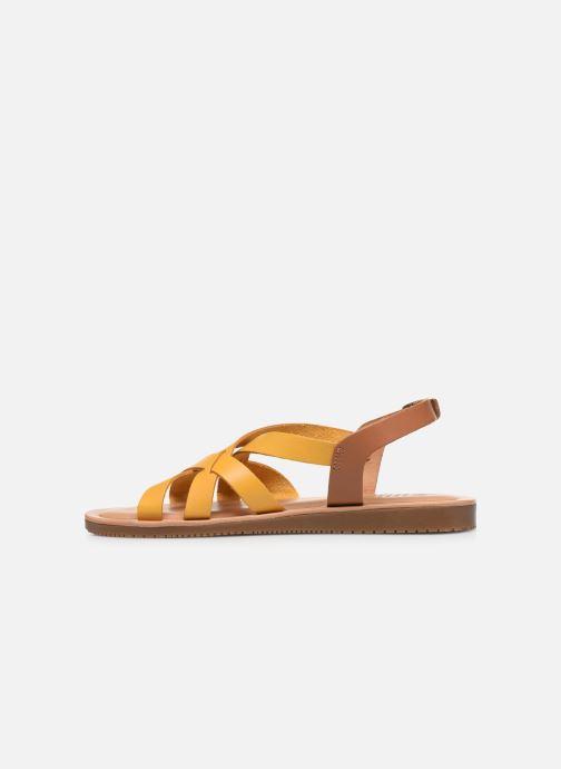 Sandalen TBS BELLUCI gelb ansicht von vorne