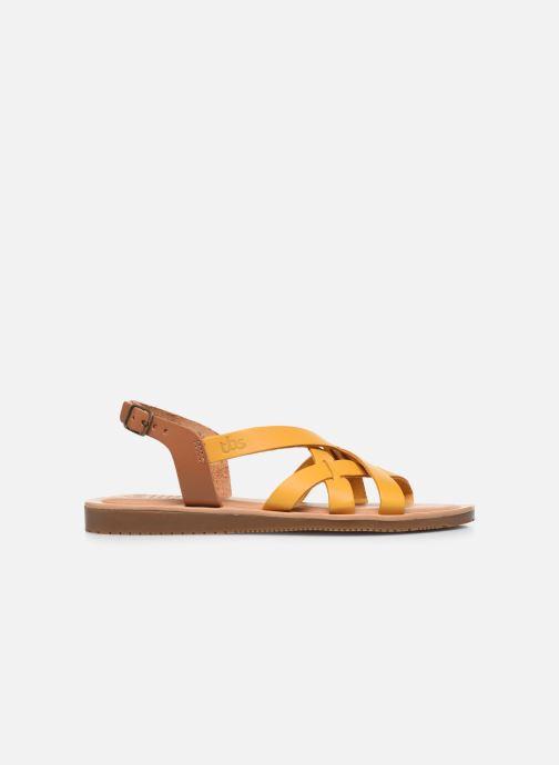 Sandalen TBS BELLUCI gelb ansicht von hinten