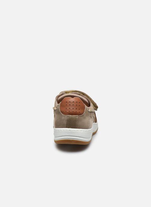 Zapatos con velcro TBS SEATTON Beige vista lateral derecha