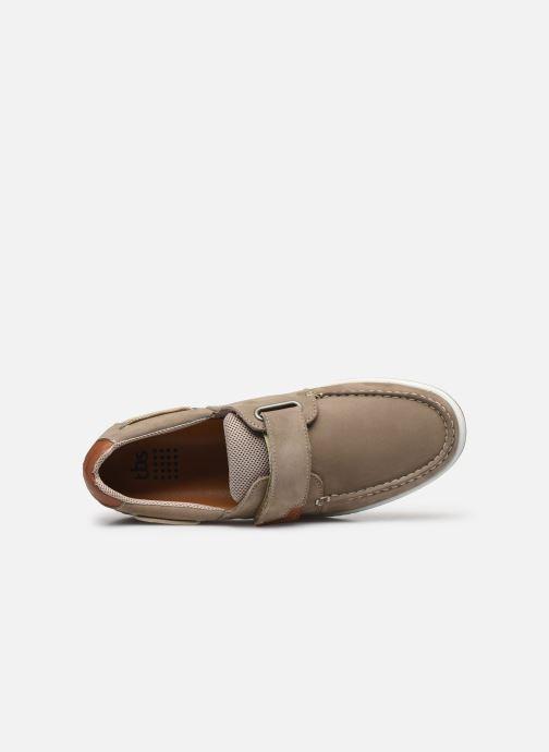 Zapatos con velcro TBS SEATTON Beige vista lateral izquierda