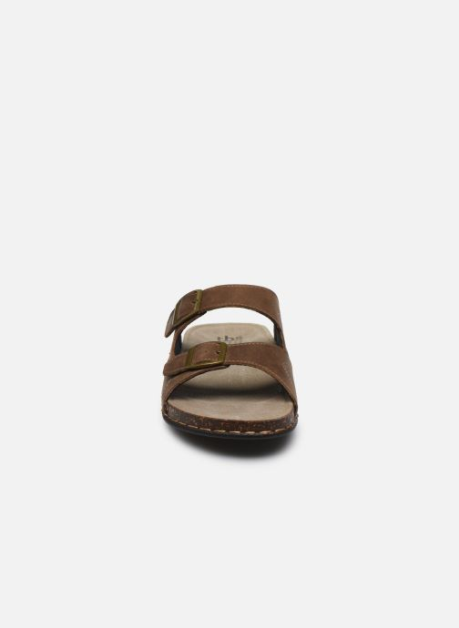 Sandales et nu-pieds TBS STEPPES Marron vue portées chaussures