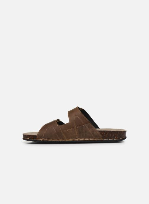 Sandales et nu-pieds TBS STEPPES Marron vue face
