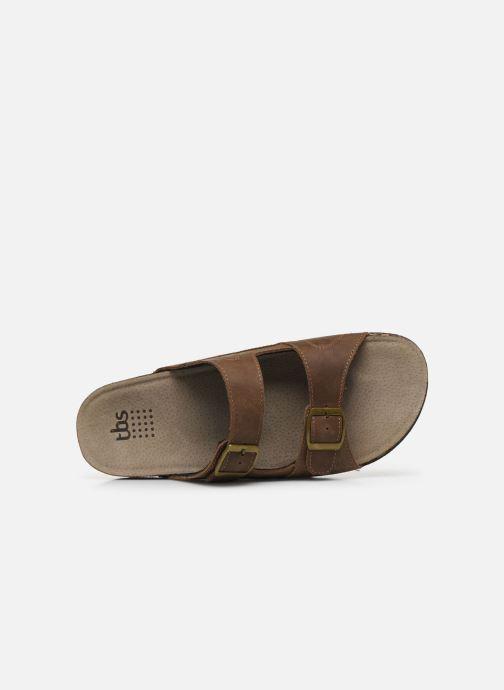 Sandales et nu-pieds TBS STEPPES Marron vue gauche