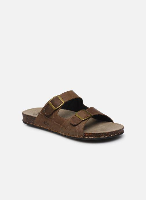 Sandales et nu-pieds TBS STEPPES Marron vue détail/paire