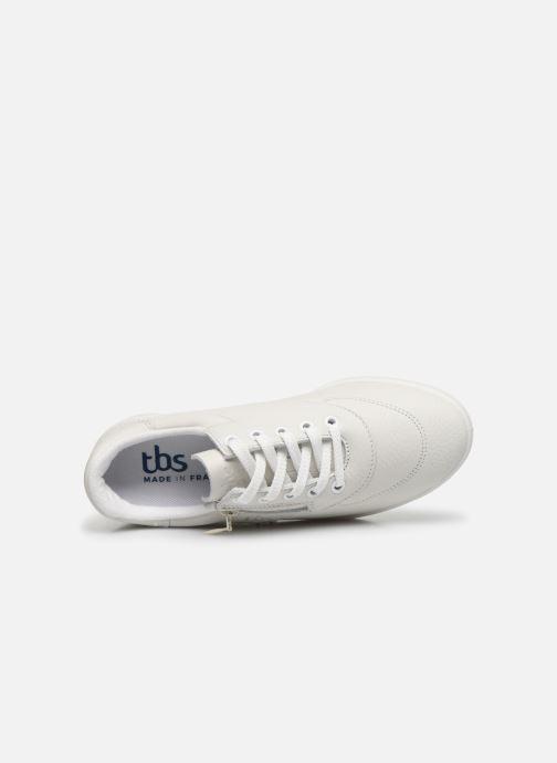 Sneaker TBS Made in France BRANZIP weiß ansicht von links