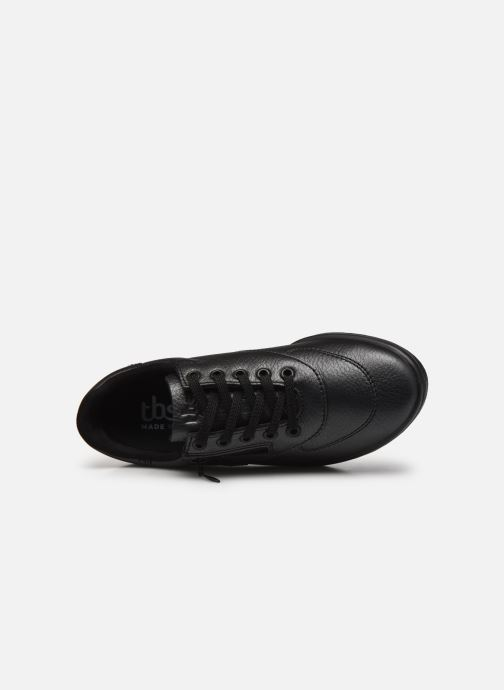 Sneaker TBS Made in France BRANZIP schwarz ansicht von links