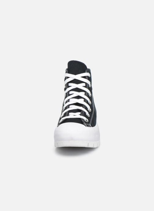 Baskets Converse Chuck Taylor All Star Lugged Basic Canvas Hi Noir vue portées chaussures