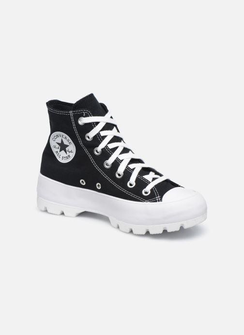 Sneakers Converse Chuck Taylor All Star Lugged Basic Canvas Hi Zwart detail