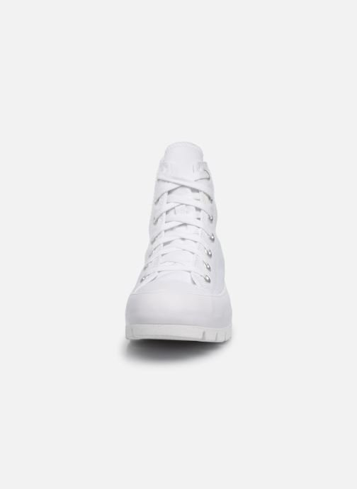 Baskets Converse Chuck Taylor All Star Lugged Basic Canvas Hi Blanc vue portées chaussures