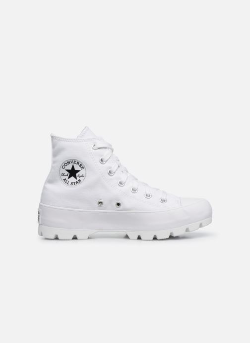 Baskets Converse Chuck Taylor All Star Lugged Basic Canvas Hi Blanc vue derrière