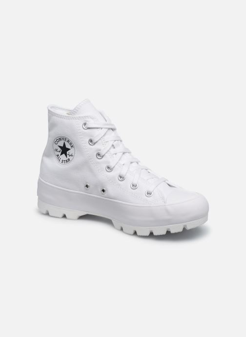 Baskets Converse Chuck Taylor All Star Lugged Basic Canvas Hi Blanc vue détail/paire