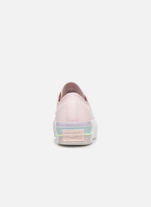 Trainers Converse Chuck Taylor All Star Lift Intergalactic Leather Ox Pink view from the right