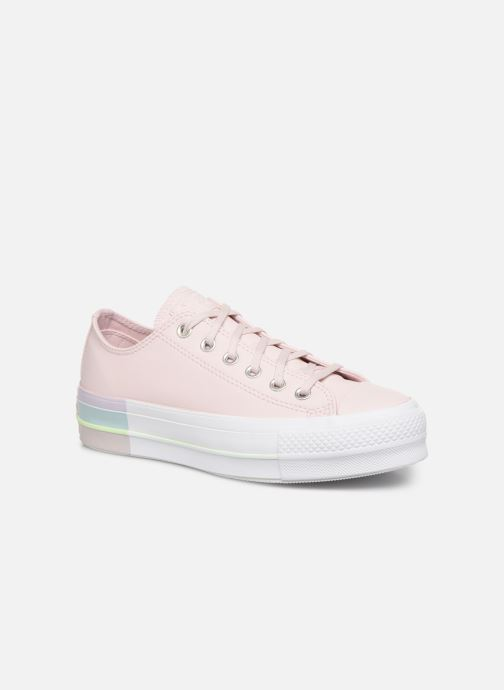 Trainers Converse Chuck Taylor All Star Lift Intergalactic Leather Ox Pink detailed view/ Pair view