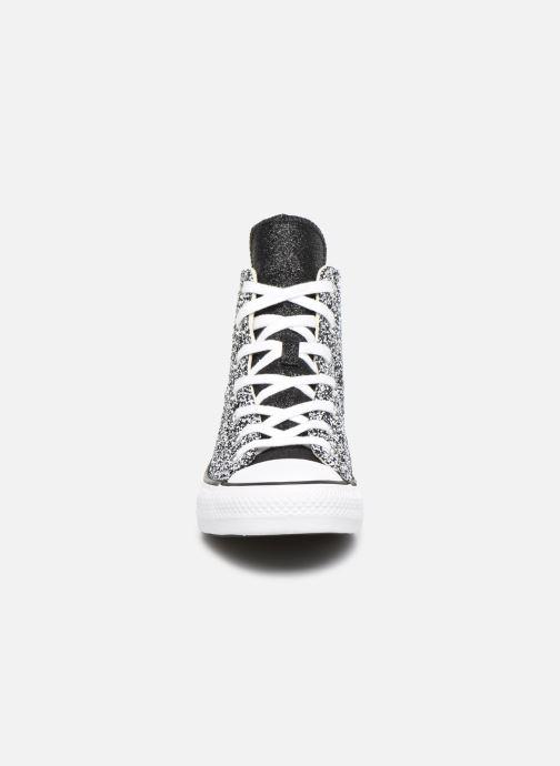Baskets Converse Chuck Taylor All Star Galaxy Dust Hi Gris vue portées chaussures