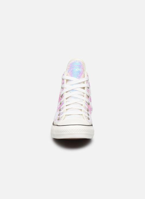 Baskets Converse Chuck Taylor All Star Minisequins Hi Multicolore vue portées chaussures