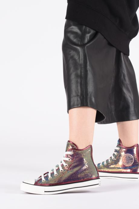 Trainers Converse Chuck Taylor All Star Minisequins Hi Multicolor view from underneath / model view