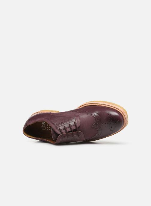Chaussures à lacets TBS Aderley Bordeaux vue gauche