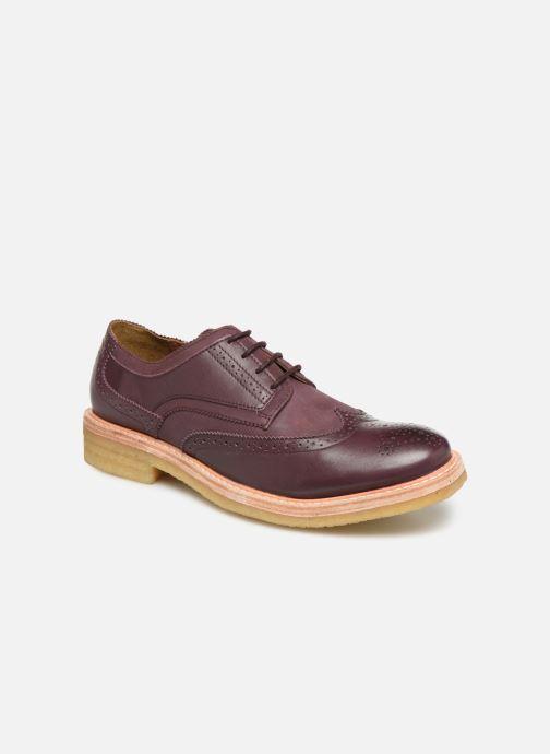 Chaussures à lacets TBS Aderley Bordeaux vue détail/paire