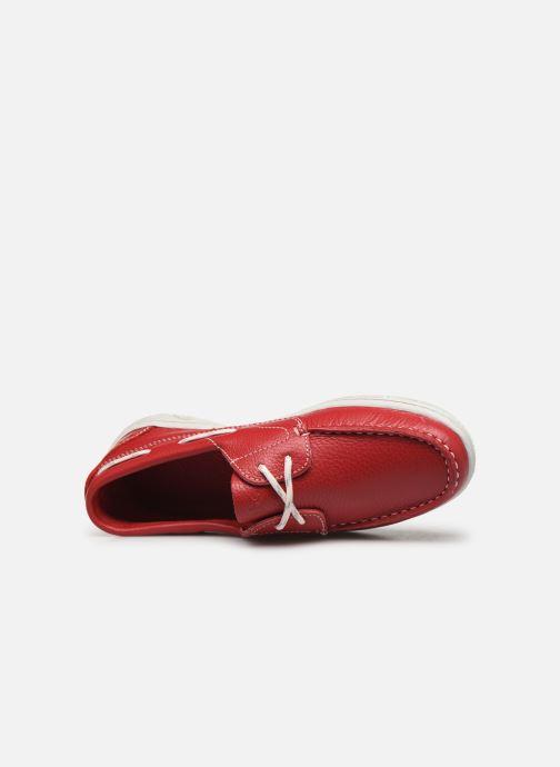 Chaussures à lacets TBS Nellia Rouge vue gauche
