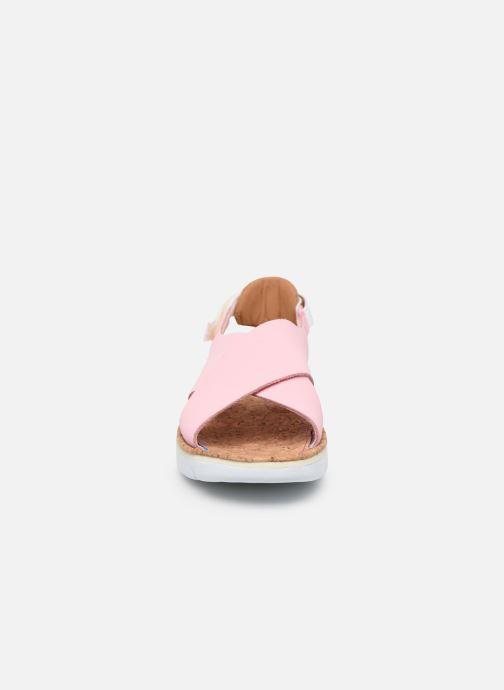 Sandalen Camper ORUGA W rosa schuhe getragen
