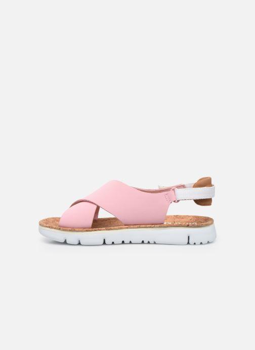 Sandalen Camper ORUGA W rosa ansicht von vorne