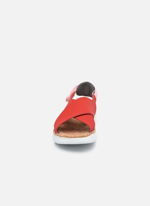 Sandalias Camper ORUGA W Rojo vista del modelo