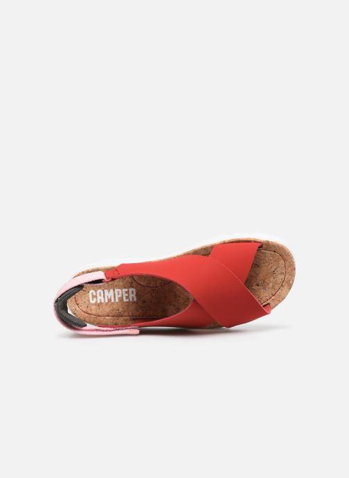Sandalias Camper ORUGA W Rojo vista lateral izquierda