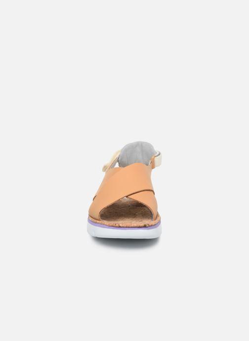 Sandalen Camper ORUGA W braun schuhe getragen