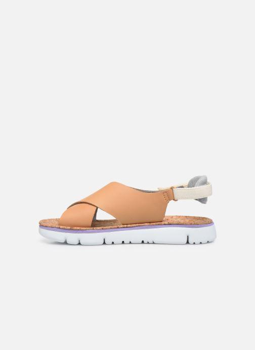 Sandalen Camper ORUGA W braun ansicht von vorne