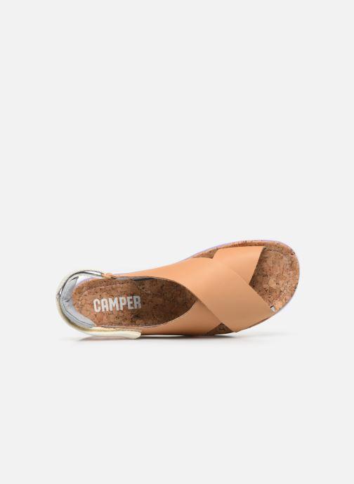 Sandalen Camper ORUGA W braun ansicht von links