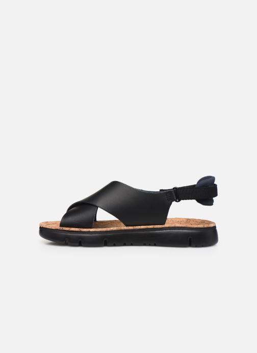 Sandalen Camper ORUGA W schwarz ansicht von vorne