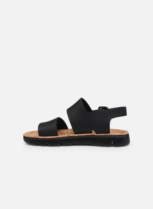 Sandales et nu-pieds Camper ORUGA II Noir vue face