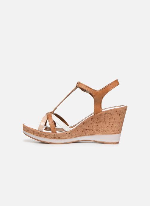 Sandales et nu-pieds Tamaris Sandales Marron vue face