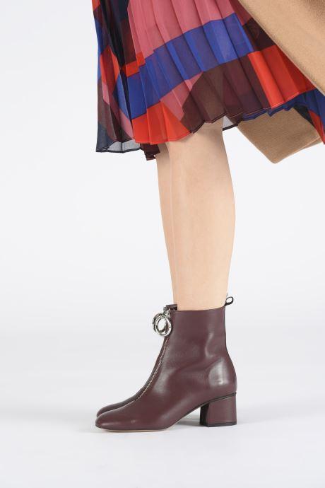 Bottines et boots L37 Electra Bordeaux vue bas / vue portée sac