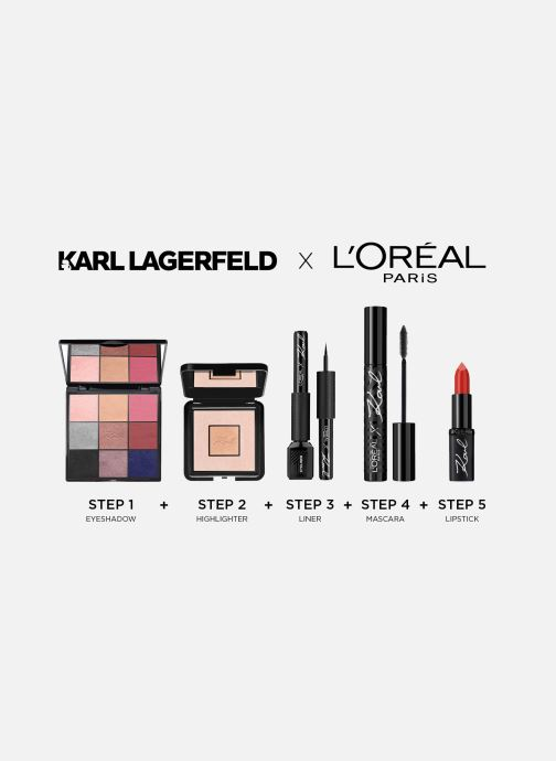 Productos de limpieza Karl Lagerfeld x L'Oréal Paris Rouge à lèvres Color Riche Satin Ironik Rosa vistra trasera