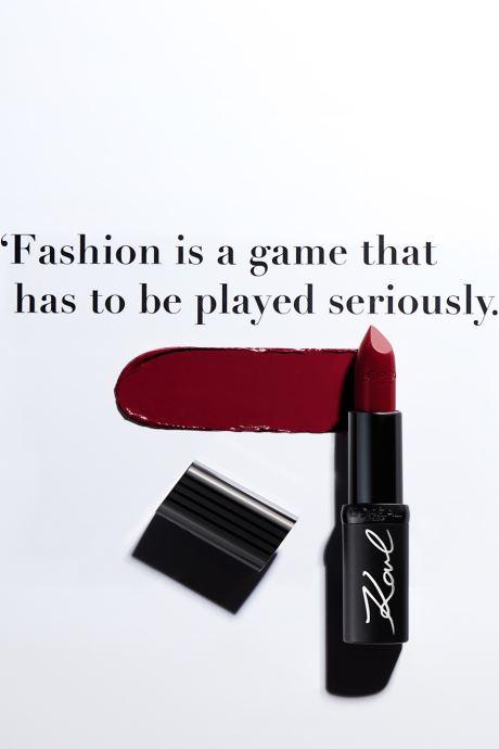 Produits d'entretien Karl Lagerfeld x L'Oréal Paris Rouge à lèvres Color Riche Satin Kontrasted Rouge vue droite