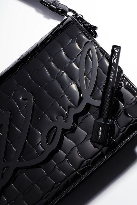Productos de limpieza Karl Lagerfeld x L'Oréal Paris Liner Liquide Black 11 Negro vista lateral derecha