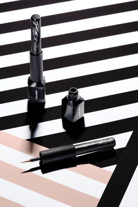 Produits d'entretien Karl Lagerfeld x L'Oréal Paris Liner Liquide Metallik 12 Argent vue droite
