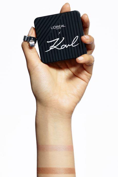 Produits d'entretien Karl Lagerfeld x L'Oréal Paris Enlumineur duo Beige vue face