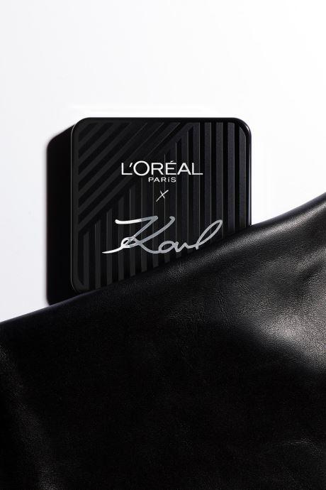 Produits d'entretien Karl Lagerfeld x L'Oréal Paris Enlumineur duo Beige vue droite