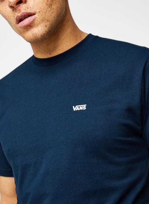 Vêtements Vans MN LEFT CHEST LOGO TEE Navy/White Bleu vue face