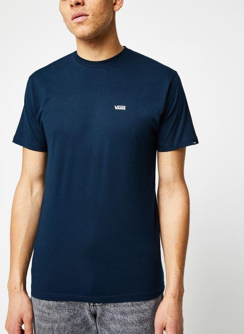 Vêtements Vans MN LEFT CHEST LOGO TEE Navy/White Bleu vue droite