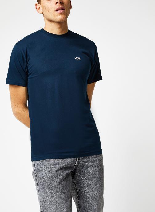 Vêtements Vans MN LEFT CHEST LOGO TEE Navy/White Bleu vue détail/paire