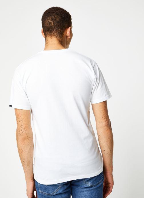 Vêtements Vans MN LEFT CHEST LOGO TEE White/Black Blanc vue portées chaussures