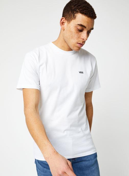 Vêtements Vans MN LEFT CHEST LOGO TEE White/Black Blanc vue droite