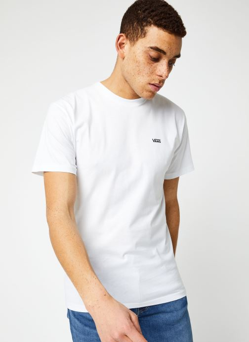 Vêtements Vans MN LEFT CHEST LOGO TEE White/Black Blanc vue droite