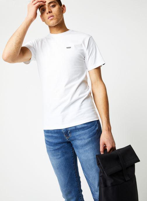 Vêtements Vans MN LEFT CHEST LOGO TEE White/Black Blanc vue détail/paire
