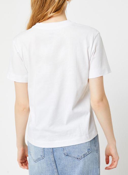 Vêtements Vans WM JUNIOR V BOXY White Blanc vue portées chaussures